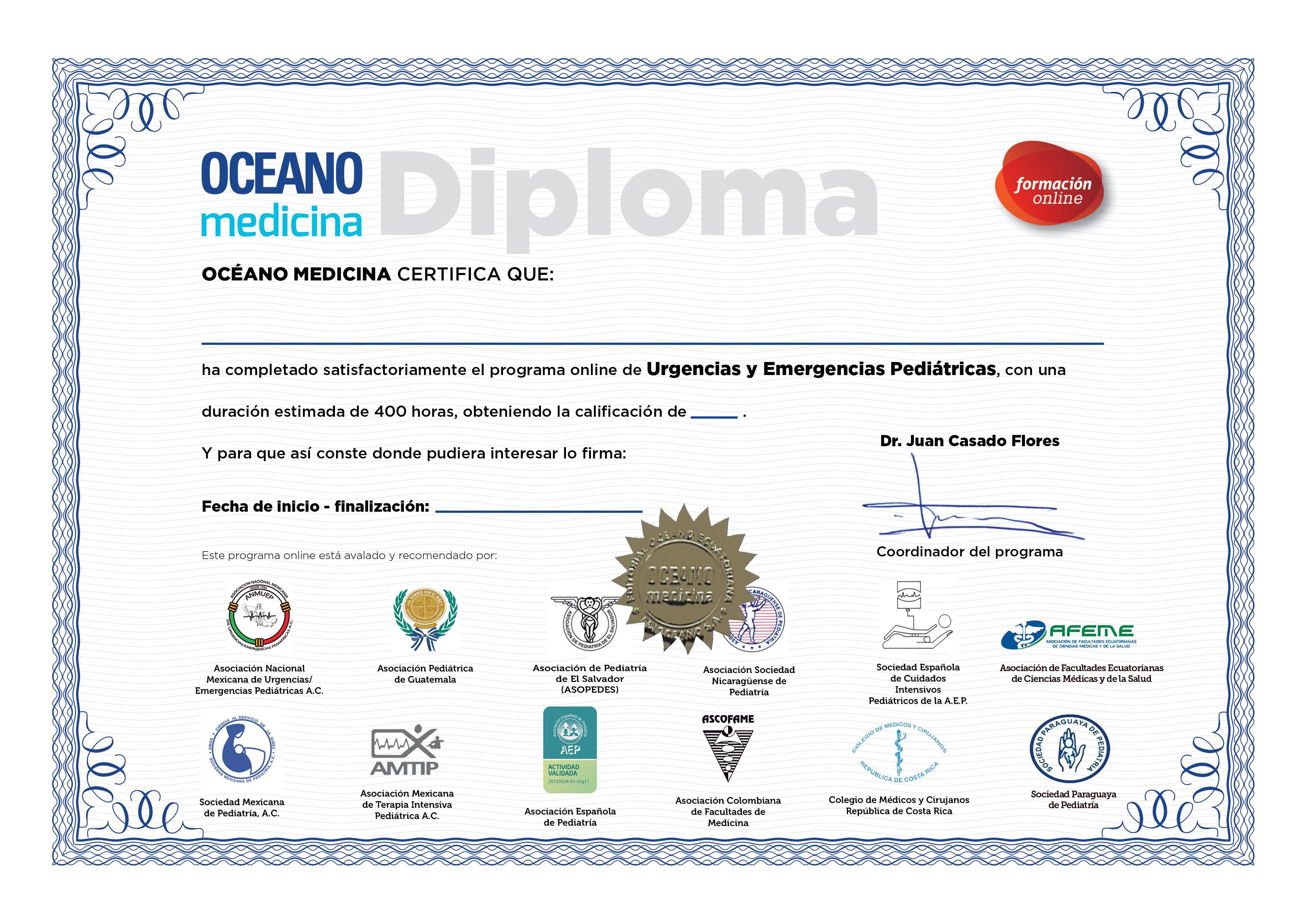 Diploma con Certificaciones Nacionales